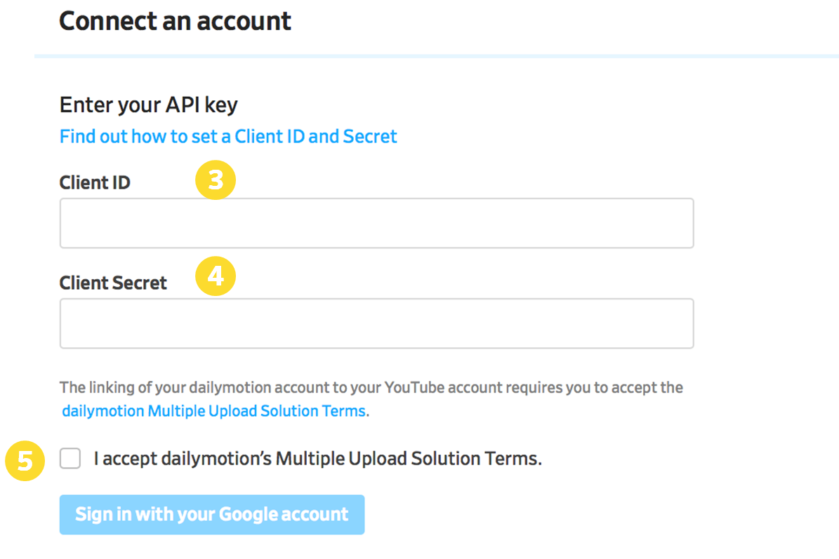 Publish to Youtube – Dailymotion Help Center